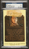 Baseball Collectibles:Others, Cy Young Signed Cut Signature, PSA NM 7....