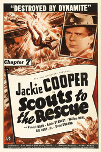 "Scouts to the Rescue (Universal, 1939). One Sheet (27"" X 41""). Chapter 7 -- ""Destroyed by Dynamite.""..."