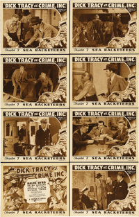 """Dick Tracy vs Crime Inc. (Republic, 1941). Lobby Card Set of 8 (11"""" X 14"""") Chapter 7 -- """"Sea Racketeers.&..."""