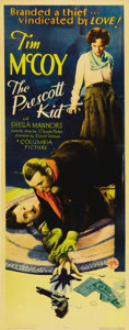"""Movie Posters:Western, The Prescott Kid (Columbia, 1934). Insert (14"""" X 36""""). This beautiful early 30's Tim McCoy Columbia Western poster positivel..."""