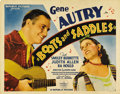 """Movie Posters:Western, Boots and Saddles (Republic, 1937). Half Sheet (22"""" X 28""""). Gene Autry stars in another of his music-filled Westerns, this t..."""