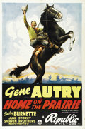 "Movie Posters:Western, Home on the Prairie (Republic, 1939). One Sheet (27"" X 41""). Considered by collectors to be one of the best poster images of..."