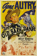 "Movie Posters:Western, The Old Barn Dance (Republic, 1938). One Sheet (27"" X 41""). Gene Autry left Republic Pictures in a contract dispute after th..."