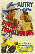 """Movie Posters:Western, Rovin' Tumbleweeds (Republic, 1939). One Sheet (27"""" X 41""""). Only a month after the release of """"Mr. Smith Goes to Washington,..."""