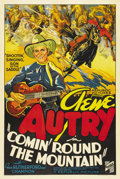 "Movie Posters:Western, Comin' Round the Mountain (Republic, 1936). One Sheet (27"" X 41"").Rarely did Republic Studios produce a stone litho one she..."