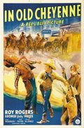 "Movie Posters:Western, In Old Cheyenne (Republic, 1941). One Sheet (27"" X 41""). Paper from Roy Rogers' early films (prior to 1944) is rarer and mor..."