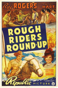 """Movie Posters:Western, Rough Riders Round-up (Republic, 1939). One Sheet (27"""" X 41""""). Only the fifth film that Roy Rogers made after changing his n..."""