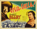 """Movie Posters:Western, Viva Villa! (MGM, 1934). Title Lobby Card (11"""" X 14""""). Wallace Beery stars as the famed Mexican General in this romanticized..."""