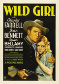 "Movie Posters:Drama, Wild Girl (Fox, 1932). One Sheet (27"" X 41""). Raoul Walsh directsthis tale set in the High Sierras at the end of the Civil ..."