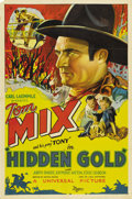 "Movie Posters:Western, Hidden Gold (Universal, 1932). One Sheet (27"" X 41""). Tom Mix playsa ranch hand that takes up boxing to earn money after th..."