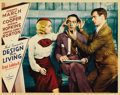 """Movie Posters:Comedy, Design for Living (Paramount, 1933). Lobby Card (11"""" X 14"""").Another of the great cards from Ernst Lubitsch's classic romanc..."""
