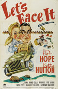 """Movie Posters:Musical, Let's Face It (Paramount, 1943). One Sheet (27"""" X 41""""). Greatcaricature art of Betty Hutton and Bob Hope for this World War..."""