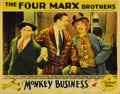 "Movie Posters:Comedy, Monkey Business (Paramount, 1931). Lobby Card (11"" X 14""). This wasthe Marx Brother's first film to be shot in Hollywood an..."