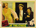 "Movie Posters:Comedy, At The Circus (MGM, 1939). Lobby Cards (2) (11"" X 14""). Anyone whohasn't heard Groucho Marx do ""Lydia, the Tattooed Lady"" n...(Total: 2 Items)"