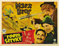 "Movie Posters:Comedy, Room Service (RKO, 1938). Half Sheet (22"" X 28""). This adaptationof a Broadway play was the only time that the Marx Brother..."