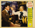 "Movie Posters:Comedy, Six of a Kind (Paramount, 1934). Lobby Card (11"" X 14""). This cardfeatures W.C. Fields and George Burns from Leo McCarey's ..."
