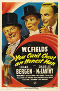 "Movie Posters:Comedy, You Can't Cheat an Honest Man (Universal, 1939). One Sheet (27"" X41""). W.C. Fields turned down the title role of ""The Wizar..."