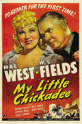 "Movie Posters:Comedy, My Little Chickadee (Universal, 1940). One Sheet (27"" X 41""). MaeWest and W.C. Fields are con artists who end up married to..."