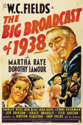 "Movie Posters:Comedy, The Big Broadcast of 1938 (Paramount, 1938). One Sheet (27"" X 41"").The radio stars shine in this Big Broadcast musical come..."