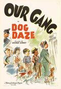 "Movie Posters:Comedy, Dog Daze (MGM, 1939). One Sheet (27"" X 41""). The ""Our Gang"" kidstry to raise money by catching dogs for rewards, but their ..."