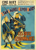 "Movie Posters:Comedy, Beau Hunks (MGM, 1932). Pre-War Belgian Poster (24"" X 33.5""). Ollie joins the Foreign Legion to get over a girlfriend, and S..."