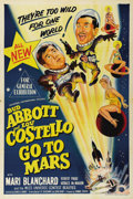 "Movie Posters:Comedy, Abbott and Costello Go to Mars (Universal, 1953). Australian OneSheet (27"" X 40""). Leave it to Bud Abbott and Lou Costello ..."