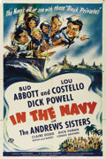 """Movie Posters:Comedy, In the Navy (Universal, 1941). One Sheet (27"""" X 41""""). Bud Abbottand Lou Costello's third film (and their second as headline..."""