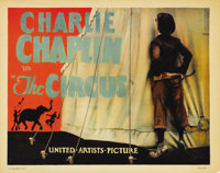 """The Circus (United Artists, 1928). Title Lobby Card (11"""" X 14""""). Charlie Chaplin both directed and starred in..."""