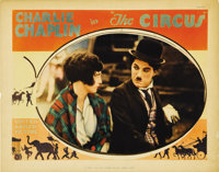 """The Circus (United Artists, 1928). Lobby Card (11"""" X 14""""). Chaplin is seen on this card with the love interest..."""