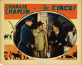 """Movie Posters:Comedy, The Circus (United Artists, 1928). Lobby Card (11"""" X 14""""). In thisgreat card Chaplin confronts pickpocket, Steve Murphy, as..."""