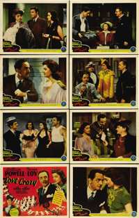 """Love Crazy (MGM, 1941). Lobby Card Set of 8 (11"""" X 14""""). Beautiful set of cards for one of William Powell and..."""