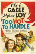 "Movie Posters:Comedy, Too Hot to Handle (MGM, 1938). One Sheet (27"" X 41"") Style D. Thegorgeous artwork of Clark Gable, Myrna Loy, Walter Pidgeon..."