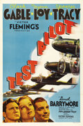 "Movie Posters:Action, Test Pilot (MGM, 1938). One Sheet (27"" X 41"") Style C. VictorFleming directs Clark Gable, Myrna Loy and Spencer Tracy in th..."