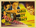 """Movie Posters:Action, Test Pilot (MGM, 1938). Title Lobby Card (11"""" X 14""""). A favoriteTitle Card for Clark Gable, Myrna Loy and Spencer Tracy col..."""