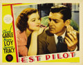 "Movie Posters:Action, Test Pilot (MGM, 1938). Lobby Cards (3) (11"" X 14""). Test pilotClark Gable and his mechanic Spencer Tracy risk their lives ...(Total: 3 Items)"