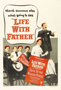 """Movie Posters:Comedy, Life with Father Lot (Warner Brothers, 1947). One Sheet (27"""" X 41"""") and Lobby Card Set of 8 (11"""" X 14""""). William Powell, Ire... (Total: 9 Items)"""