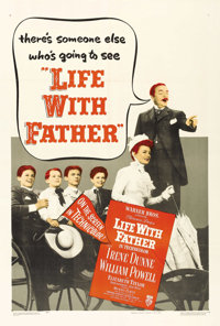 "Life with Father Lot (Warner Brothers, 1947). One Sheet (27"" X 41"") and Lobby Card Set of 8 (11"" X 14&quo..."