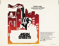 "Mean Streets (Warner Brothers, 1973). Half Sheet (22"" X 28""). Martin Scorcese's first major film, and stars Ha..."