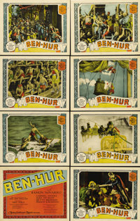 """Ben-Hur (MGM, 1925). Lobby Card Set of 8 (11"""" X 14""""). One of the high points of the silent era, this epic tale..."""
