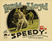 """Speedy (Paramount, 1928). Lobby Card (11"""" X 14""""). Here's a great hand-stenciled lobby card with the master com..."""