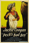 """Movie Posters:Comedy, Peck's Bad Boy (First National, 1921). One Sheet (27"""" X 41"""").""""Peck's Bad Boy"""" was Jackie Coogan's first starring role, and ..."""