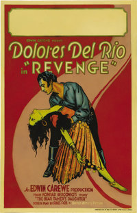 """Revenge (United Artists, 1928). Window Card (14"""" X 22""""). A silent film, 'Revenge' was released with a synchron..."""