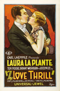 """Movie Posters:Comedy, The Love Thrill (Universal, 1927). One Sheet (27"""" X 41""""). Gorgeousstone litho of the beautiful Laura La Plante with Tom Moo..."""