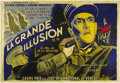 "Movie Posters:War, La Grande Illusion (R.A.C., 1937) French (63"" X 94""). Almostseventy years after it was made, ""La Grande Illusion"" remains o..."