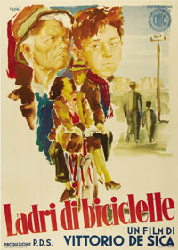 "The Bicycle Thief (Ente Nazionale Industrie Cinematografiche (ENIC), 1948). Italian 2-Folio (38.5"" X 55""). Thi..."