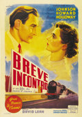 "Movie Posters:Romance, Brief Encounter (Eagle Lion, 1946). Italian 2-Folio (39"" X 55"").Great Britain's David Lean directs one of his early efforts..."