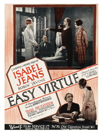 "Easy Virtue (Wardour Films, 1928). British Trade Ad (8.75"" X 12.75""). This was Alfred Hitchcock's seventh film..."