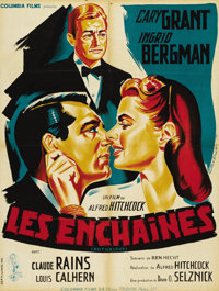 "Notorious (RKO, R-1954). French Petite (23.5"" X 31.5""). Alfred Hitchcock's wonderful pastiche of espionage and..."