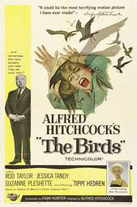 "The Birds (Universal, 1963). One Sheet (27"" X 41""). Alfred Hitchcock horror classic about an isolated seaside..."