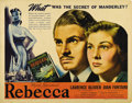 """Movie Posters:Hitchcock, Rebecca (United Artists, 1940). Half Sheet (22"""" X 28""""). AlfredHitchcock's only Best Picture Oscar winner stars Laurence Oli..."""
